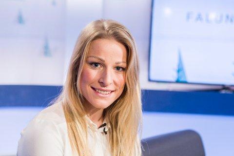 Ida Eide fotografert i TV-studio under ski-VM i Falun i 2015.