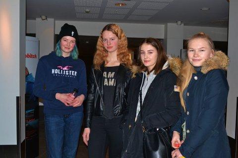"""SKRYTER AV GJØVIKFILMEN: Alma Hardeberg, Rebecca Helland, Hilde Thoresen Oddberg og Adelheid Sommerfeldt var en av mange som dro på Norgespremieren av """"Psychobitch"""", de syntes filmen var til å kjenne seg igjen i."""