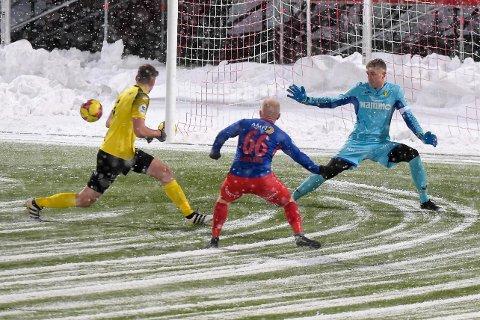 Ole Kristian Lauvli sørget for at Raufoss ikke tapte mer enn 0-3 mot TUIL med flere strålende redninger.