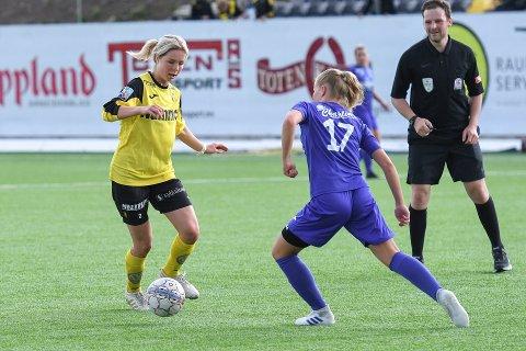 Maren Lundby viste gode takter på fotballbanen.