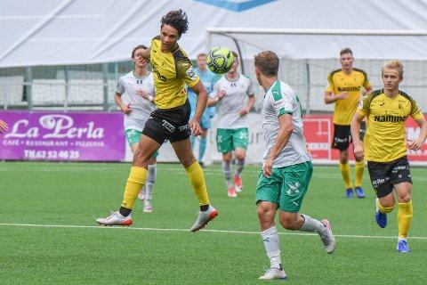 Ikhsan Fandi scoret to mål i treningskampen mot HamKam. Han spiller trolig fra start mot Jerv.