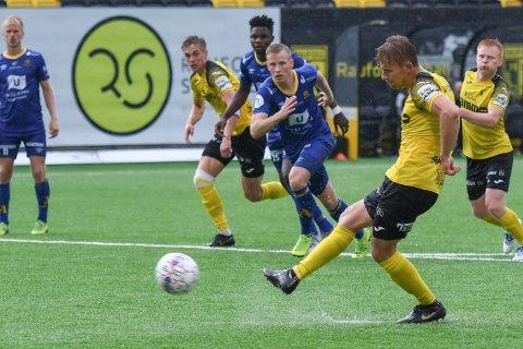 Mikkel Maigaard Jakobsen scoret to mål mot Jerv. Blir det nettkjenning mot Jerv, vil dansken komme opp i tosifret antall seriemål.