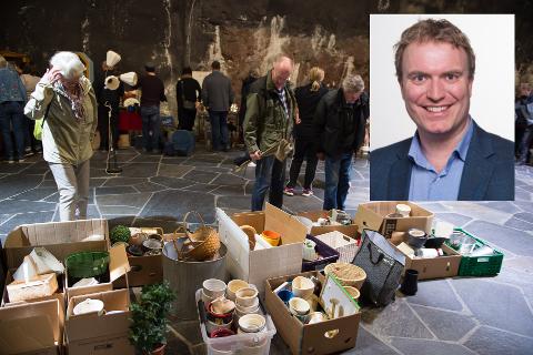 GRATIS LEVERING: Gjøvik Høyre ønsker at lag og foreninger skal kunne levere restavfall gratis. Her ser vi Gjøvik/Snertingdal og Vardal skolekorps som arrangerte loppemarked i Fjellhaven i fjor.