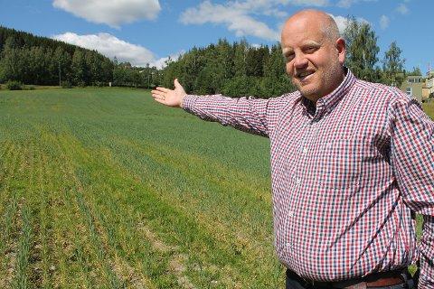 HER SKAL CAMPINGEN LIGGE: Reiselivssjef Arne Jørgen Skurdal vil ha campingplass nær Gjøvik sentrum i Bråstadvika.