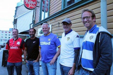 MOTGANGSSUPPORTERE: Fra venstre Frode Vesterås, Vegard Gulbrandsen, Morten Vesterås, Geir Magne Fjellseth og Atle Homb-Vesterås