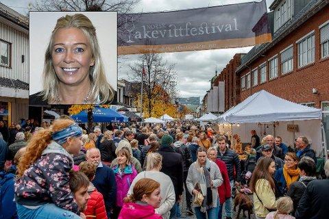 AVLYST: Byen vår Gjøvik har besluttet å avlyse det planlagte rekordforsøket i akevittsmaking under årets festival. Innfelt festivalsjef Line Kildal.