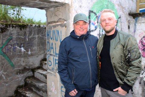 NYE PLANER: Steffen Hellum (t.v.) og Vidar Berntsen har planer om å utvide tilbudet på Hovdetoppen etter årets suksess.