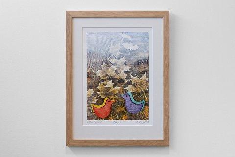 STILLES UT: Dette trykket av Einar Sigstad er ett av kunstverkene du kan se.