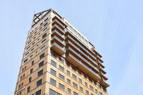 FULLT: Alle de fem etasjene med kontorlokaler i Mjøstårnet er utleid.