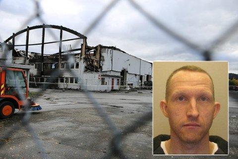 ETTERFORSKER FORTSATT: Politiet mener Christian Berg (43) fra Gjøvik ble drept før brannen en lagerbygning i Moelv for tre uker siden.