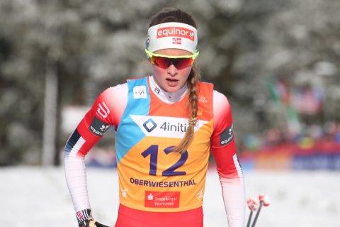 Mathilde Skjærdalen Myhrvold var uheldig i starten på semifinalen, men ble nummer ni på sprinten i U23-VM. Nå kan det bli verdenscup på Konnerud for Vind-jenta førstkommende onsdag.