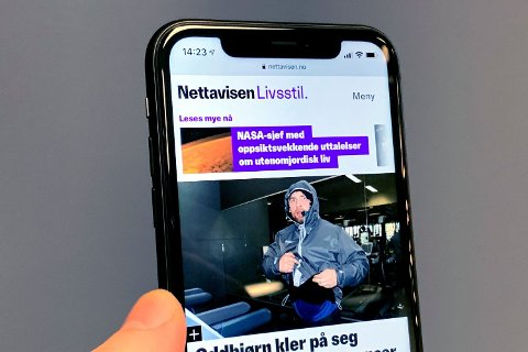 FEIL: iPhone 11 Pro-brukere rapporterer om en feil som gir OLED-skjermen et grønnskjær. Bildet er en illustrasjon og viser en vanlig iPhone 11 med LCD-skjerm. Foto: Lars Wærstad (Nettavisen)