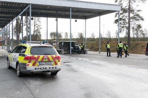 Grensen mellom Norge og Sverige på Magnormoen.
