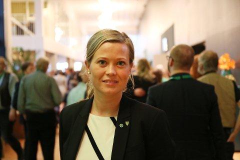 SENTERPARTIJUBEL: Kjersti Bjørnstad ser på tilbakemeldingen fra velgerne som en hyggelig tilbakemelding og oppmuntring for Sp-politikerne.
