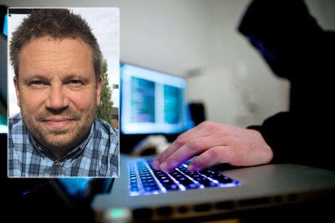 I BEREDSKAP: Leder Hans Petter Olsby Hoff og resten av IKT-avdelingen i Gjøvik kommune opplever daglig større eller mindre forsøk på dataangrep.