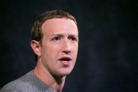 SJEFEN: Facebook-direktør og gründer Mark Zuckerberg, her avbildet i New York i 2019.