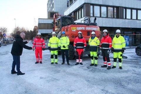 STENGER NORDOVER: Strandgata i Gjøvik blir enveiskjørt sørover allerede denne uka.