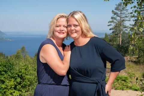 HANDY-WOMEN: Trude og Trine Rishaug Lium fra Bøverbru er med på Sommerhytta, tv-programmet på TV2 der deltakerne skal pusse opp sin egen sommerhytte.