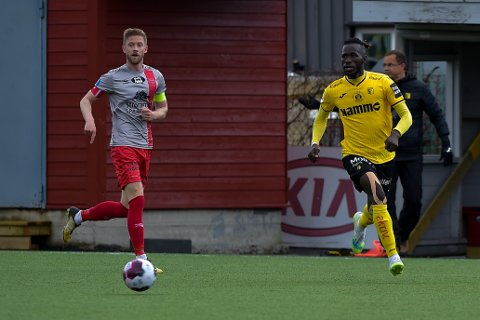 Mame Mor Ndiaye scoret Raufoss' mål i 1-1-kampen mot Strømmen. blir det mer nettsus mot Aalesund?