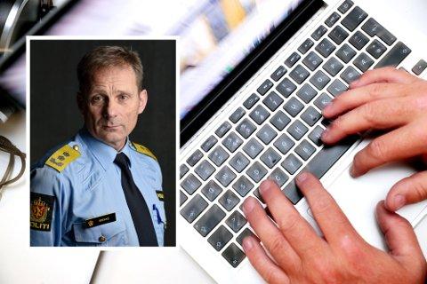 STORE UTFORDRINGER: Politimester Johan Brekke fastslår at Innlandet politidistrikt trenger økt kompetanse og mer kapasitet hvis de skal klare å holde følge med utviklingen innen nettovergrep og annen datakriminalitet.