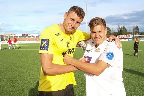 Marius Alm og Ole Thomas Skogli trykket til i duellene i lokalderbyet.