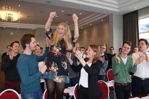 NYVALGT LEDER: Lørdag ble Ida Lindtveit valgt til ny leder av KrFU. FOTO: KrFU