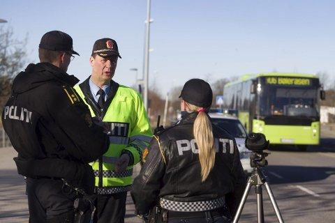 SKUFFET: UP-sjef, Stein-Olaf Røberg er skuffet over at så mange kjørte for fort i Enebakk onsdag.
