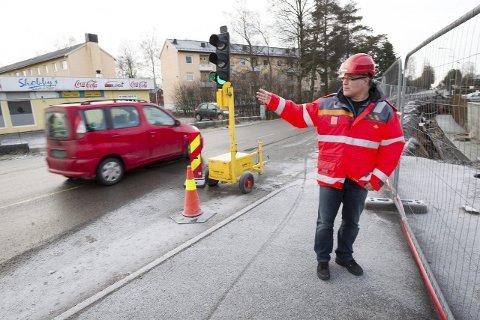 MANGE NESTENULYKKER: Om en måneds tid innfører Statens vegvesen enveiskjøring i Nordbyveien. Da kan du kjøre Nordbyveien fra Ski til Nygård, og Søndre Tverrvei tilbake. FOTO: BJØRN V. SANDNESS