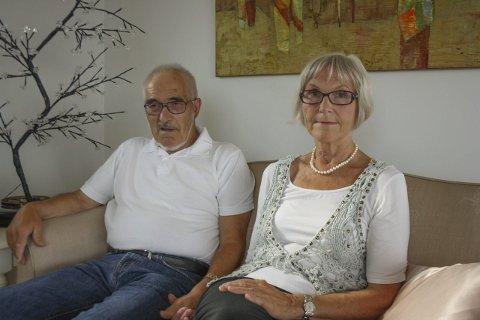 Skrekkhistorie: Gunvor Yttervik Holmgren reagerer kraftig på hvordan avlastningsordningen fungerer på et sykehjem i Oppegård. Hun avbrøt oppholdet og tok mannen sin, Odd Holmgren, med hjem. FOTO: viv rian