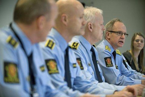 Samlet troppene: Politimester i Follo, Arne Jørgen Olafsen, tok etterforskningen av skuddet på Grønland i Oslo på strak arm. Dette er det første skuddet politiet har avfyrt som har truffet et menneske, etter at den nye midlertidige bevæpningen trådde i kraft.arkivfoto