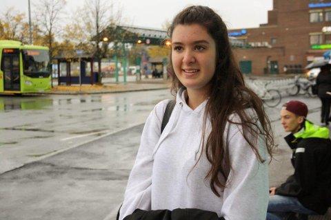 KAOS: Victoria Kopke Da Fonseca er en av mange skoleelever som har fått en tungvint skoievei på grunn av togstreiken.