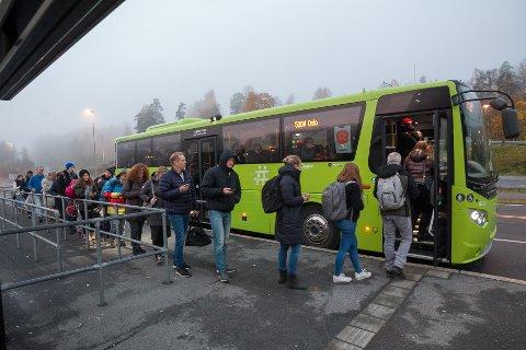 Buss fra Vinterbro og Tusenfryd inn til Oslo ble valget for mange da togstreiken pågikk. Mange tok også bil inn i løpet av de ukene streiken varte.
