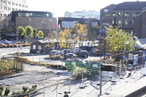 REVET: Sykkelverksted og sykkelskur på stasjonen er jevnet med jorden.