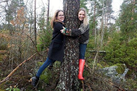Millioner til vern: Solveig Schytz og Camilla Hille, begge fra Venstre, vil bruke 10 millioner kroner til prosjekt nasjonalpark i Østmarka.