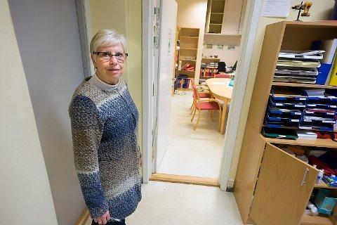Rektor Anne Hodne Endal, er forferdet over nattens hendelser ved Kolbotn skole. Foto: Ole Kr. Trana