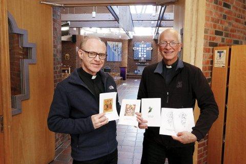 TAR IMOT: Sogneprest Johannes Ulstein (til venstre) i Ski og prost Sven Holmsen i Nordre Follo prosti håper på god oppslutning om gudstjenestene i Ski i påsken. FOTO: STIG PERSSON
