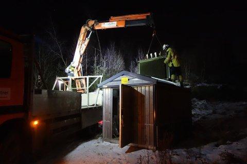 Bildet er fra et strømbrudd i Ås i 2013.