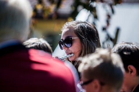 MELODISK: Christine Skarding Rogne (17) var Siggerud skolekorps' mest erfarne.