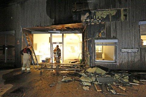 Brann: Langhus barnehage fikk store skader etter brannen. Foto: Stig Persson