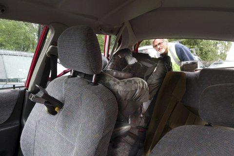 Spiddet: Hadde noen sittet i forsetet, ville personen blitt spiddet av det feilmonterte setet, konstaterer Glenn Nicolaysen i Redningsverket.