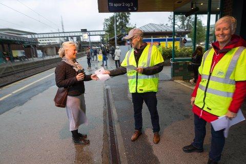 Ski stasjon: Lise Svartsund har forståelse for at Charlotte Holter og Arvid Herland er i streik. FOTO: Bjørn Sandness