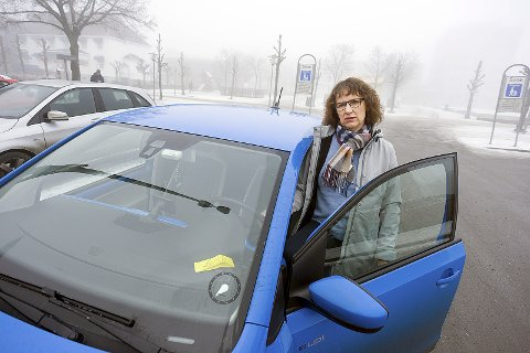 Frustrert: Marie Dyrén er frustrert over manglende informasjon om parkering i Ski kommunefoto: Ole Kr. Trana