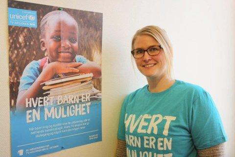 UTDANNING FOR KRIGSRAMMEDE: Temaet engasjerer, fastslår Ida Madeleen Moe. Årets TV-aksjon skal gi utdanning til barn i Colombia, Mali, Syria, Pakistan og Sør-Sudan. - Når barn i krig og konflikt ikke får utdanning, står et helt lands fremtid på spill, advarer UNICEF.