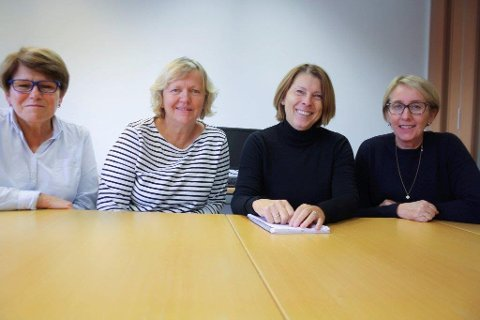 HELSESTASJON FOR UNGDOM: Helsesøstrene Wenche Mannerud, Bjørg Grutle Stavland, Cecilie Evenrud og Lisbeth Hauge har jobbet med ungdom i mange år, og opplever en endring.