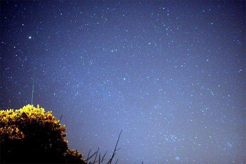 Dette bildet av Geminidene er tatt fra San Francisco i 2007.