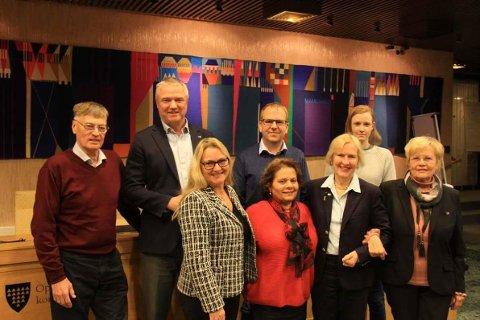 HISTORISK: Nordre Follo Høyre ble stiftet tirsdag. I det nye styret sitter: Kjell Opheim, Kristan Forslund (leder), Helge Marstrander, Melissa Kristiansen, May-Grethe Rosenberg, Daad Gjerde, Benthe Austad Biltvedt og Anne Kristine Ribe.