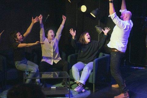 VANT: Kvartetten med Sofie fra Ås i sentrum vant fredagens konkurranse på Det Andre Teatret