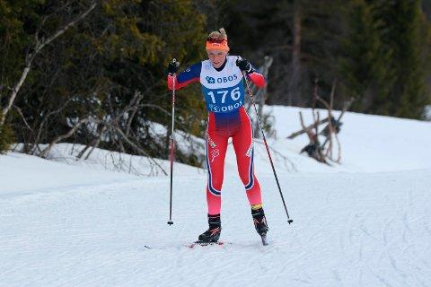 GOD PRESTASJON: Emilie Kongsten gikk en meget god 10 kilometer, og gjorde sin beste NM-prestasjon så langt i karrieren. Her fra fjorårets NM på Beitostølen.