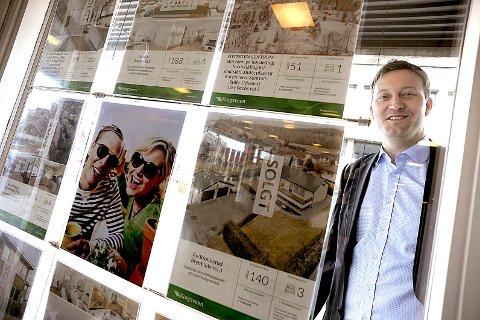 FORTSATT VEKST: Eiendomsmegler Thor Gunnar Stavsholt hos Krogsveen tror boligprisene vil fortsette å vokse inn i 2018.