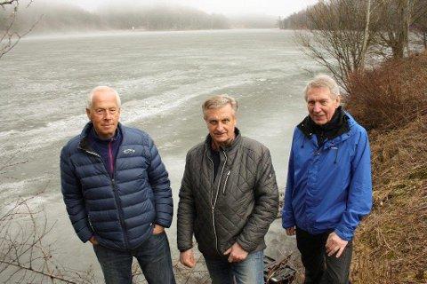 VERVER: Harald Lundstedt, Jan Erik Hokholt og Ragnar Dahl vil etablere Gjersjøvassdragets Venner for fremme av vannkvalitet, biologisk mangfold, visuelle opplevelse og kulturhistoriske verdier.